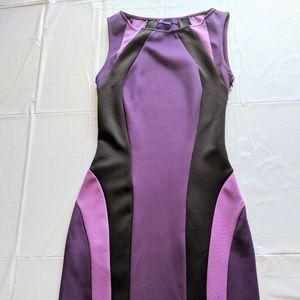 Purple and Black Body Con Mini Dress Size S